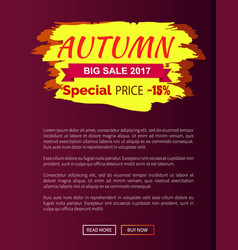 Special price autumn sale - 15 advert promo poster vector