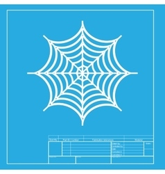 Spider on web White section of icon vector image