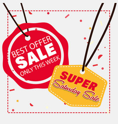 Super saturday sale vector