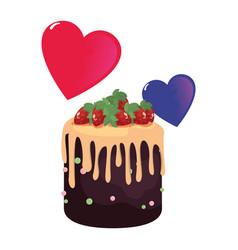 sweet cake flower vector image