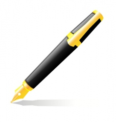 the ink pen vector image