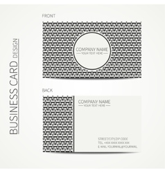Vintage hipster simple monochrome business card vector image