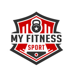 vintage logo design or retro sports and fitness vector image
