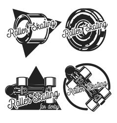 Vintage roller Skates emblems vector