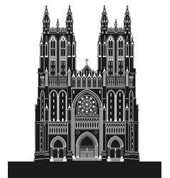 washington national cathedral vector image