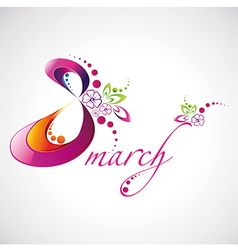Woman Day 8 March logotype for your design vector image