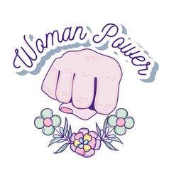 woman power cartoon vector image
