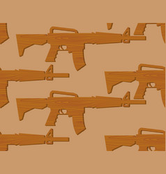 wooden gun kids pattern board weapons background vector image