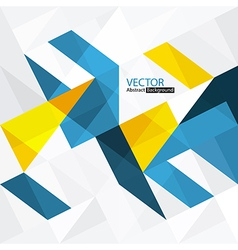 Abstract triangle shapes background vector image vector image