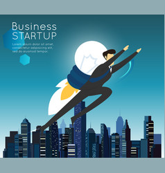 businessman superhero flying fast for business vector image vector image