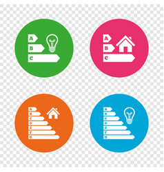 energy efficiency icons lamp bulb and house vector image vector image