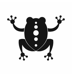 Frog icon black simple style vector image