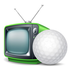 golf channel vector image