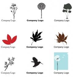 nature logos vector image