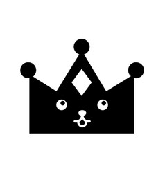 Queen crown isolated kawaii character vector