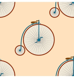 Seamless bicycle background vector image vector image