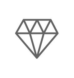 simple diamond line icon symbol and sign vector image