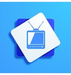 televisor vector image vector image