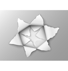 two layers of punched steel plate vector image