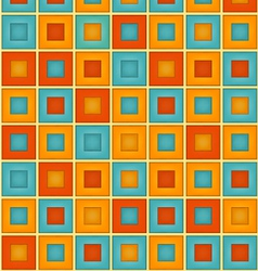 Geometrical Double Square Pattern vector image vector image