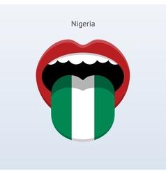 Nigeria language Abstract human tongue vector image vector image