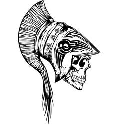 skull in helmet legionary vector image vector image