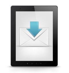 Tablet PC and email vector image