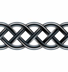 Celtic serpentine rope design vector image
