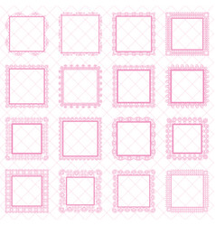 Elegant lace border frames laser cut picture vector