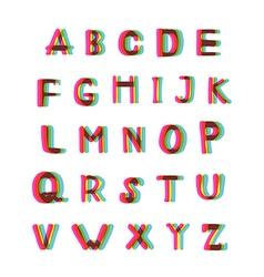 Felt-tip pen alphabet set vector
