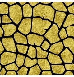 gold giraffe pattern vector image vector image