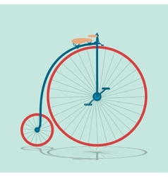 Vintage bicycle background 2 vector image
