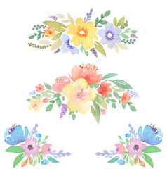 watercolor floral decor for cards and invitations vector image