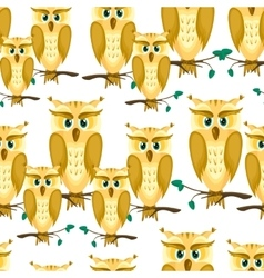 Cartoon a family of owls vector image