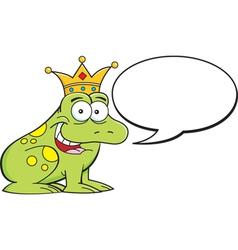 Cartoon frog with caption balloon vector image