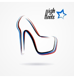 High heels logo vector image