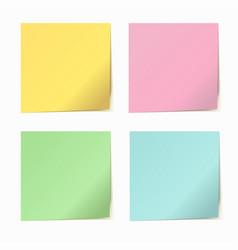 set of color paper sticker vector image
