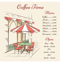 street cafe poster vector image