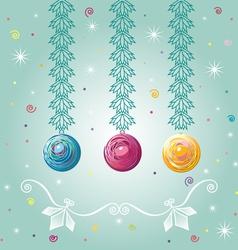 three christmastree balls vector image vector image