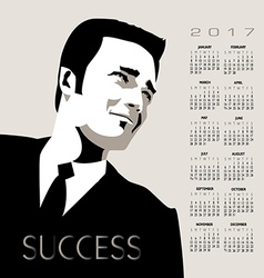 2017 calendar Business Man vector