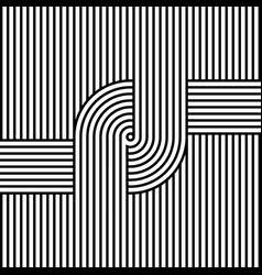 Abstract black and white stripe line background vector