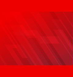 Abstract lines pattern technology on red vector