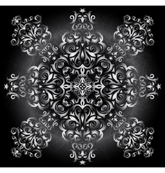 Abstract silver ornament vector image