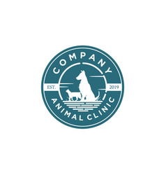 animal clinic logo designs vector image