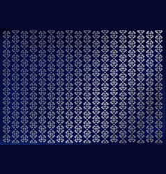 Blue background with vertical silver ornament vector
