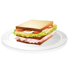 Bread sandwich vector