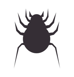 Bug icon design over white background vector