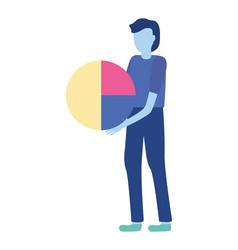 businessman holding diagram vector image