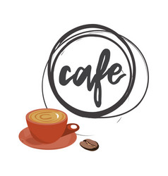 Cafe round logo vector