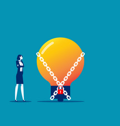 Chained idea metaphor creative looking for vector